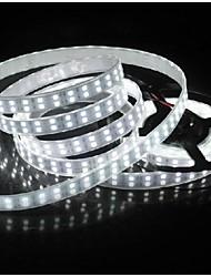 z®zdm 5m 144W 600 * 5050 SMD 9600lm luz à prova de água fria / quente branco LED luz de tira (DC12V)