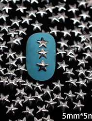 100PCS 5MM*5MM Silver Star Metal Rivet Nail Art Decoration