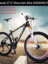 """27 velocidades de 27,5 """"mountain bike ph shimano ™ travões de disco m370 chocante bloqueio garfo de alumínio frame da liga"""