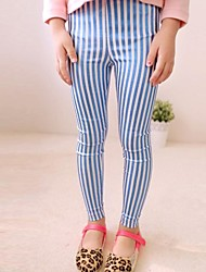 Girl's Striped Pants,Cotton Blend Spring / Fall Blue / Gold