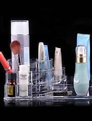 cristallo trasparente scatola di immagazzinaggio cosmetici