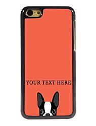 caso de telefone personalizado - cão caso design de metal para iphone 5c