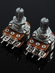 WH148 Double Union Potentiometer 6 Pins Long Handle 15mm - 20K (2pcs)