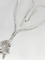 Moon Women's Strands Silver Necklace