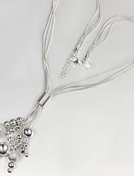 fios lua das mulheres colar de prata