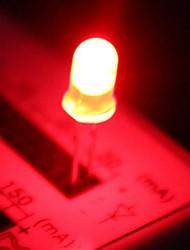 5 milímetros LED vermelho lâmpadas led (50 peças por pacote)
