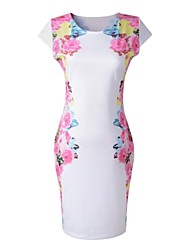 Plendor Women's White Print Sleeveless Wrap Dress