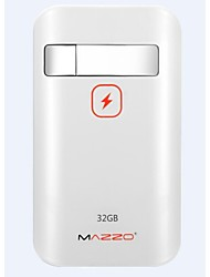 MAZZO Oblong USB Flash Drive 32GB 7800mAh White for iphone6/6plus/5S/4S and ipad 4/mini/air