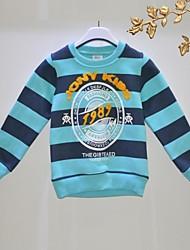 Menino de Camiseta Outono Algodão Orgânico Listrado Menino de