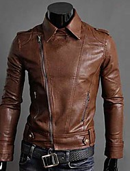 Men'S Korea Style Slim Leather Jacket