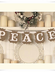 """""""PEACE"""" Vintage Chic Banner For Holiday Seasons"""