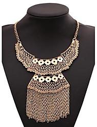 Women's Multi-level Tassels Alloy Necklace