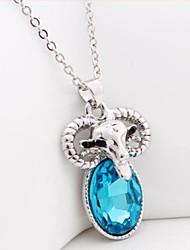 Retro Schafe Kristall Halskette