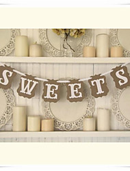 "Rustic Kraft"" SWEETS"" Wedding Party Banner Bunting Garlands Decorations"
