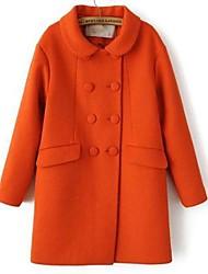 DMI ™ женская отворот сплошной цвет твид пальто (больше цветов)