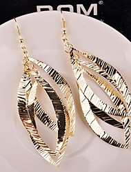 Drop Earrings Alloy Statement Jewelry Gold Silver Jewelry 2pcs