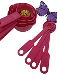 8 morceaux tasse à mesurer, cuillère-mesure, en plastique 14,5 × 2,2 × 1,8 cm (5,7 × 0,9 × 0,7 pouces) de couleur aléatoire