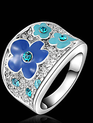 T&C Women's Fashion Alloy Flower Ring