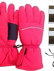 CTJ Red Women's Heated Skiing Gloves