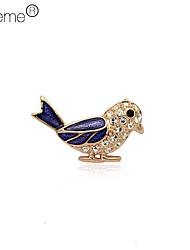 Lureme®Austrian Diamond Woodpeckers Brooch