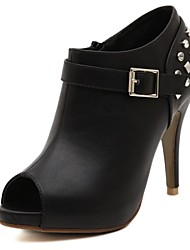 bottes chaussures de mode pour femmes peep toe stiletto talons bottines