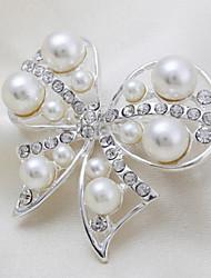 moda feminina Euramerican pérola indivíduo liga de prata broches de strass