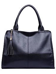 Solid Color Tote One Shoulder Bag