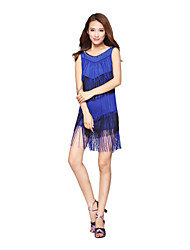 Latin Dance Dancewear Women's Elegant Silk&Tassels Latin Dance Dresses(More Colors)