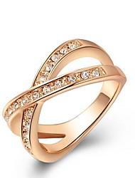 europeu de liga de platina cruz cristal austria anéis de instrução das mulheres (1 pc)