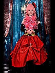 Inspiré par Vocaloid Megurine Luka Vidéo Jeu Costumes Cosplay Costumes Cosplay Mosaïque Rouge Sans Manches Robe / Casque / Manche / Noeud