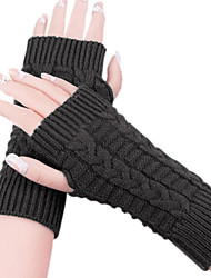 Women's Knitted Warm Short Fingerless Gloves(more colors)