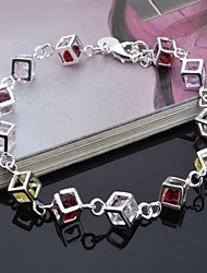 Woman's Fashion  Personality  Silver Coloured Diamond Bracelet