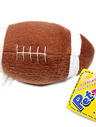 Dogs Toys Ball / Plush Toy / Squeaking Toy Football Rubber Brown