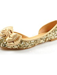 Women's Shoes Round Toe Flat Heel  Flats with Bowknot and Sequin Shoes More Colors available