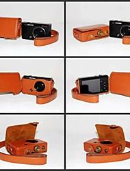 coprire dengpin pu pelle fotocamera borsa custodia protettiva con tracolla per Casio EXILIM zr50 ex zr50