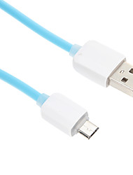 USB 2.0 / Micro-USB 2.0 Normal PVC Cabo 100cm