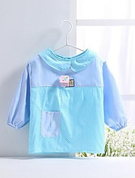 Children's Fashion Lapel Bow Section Waterproof Cotton Apron for 2-4 Years