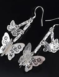 Women's Fashion Silver Butterfly Design Hook Earring