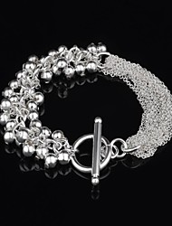 Women's Fashion Personality Bead Silver Plated Bracelet