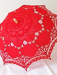 "Wedding / Beach / Daily / Masquerade Lace / Cotton Umbrella As Picture 26""(Approx.66cm) Metal / Wood 30.7""(Approx.78cm)"