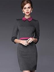 moda casual equipado vestido senhora do escritório de milliya mulheres