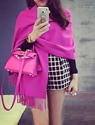 damesmode all-matching zoals kasjmier kwastje lange shawl (meer kleuren)