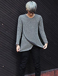 Men's Pure Pullover , Wool Blend Long Sleeve