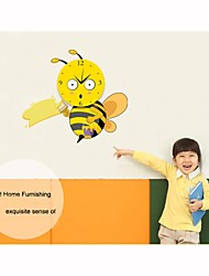 DIY Cartoon Cute Little Bee Wall Clock