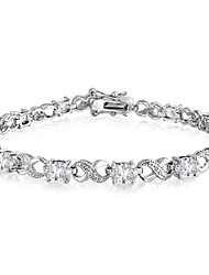 Oval CZ Infinity Design Tennis Bracelets for Women