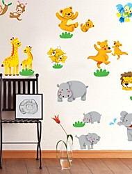 Odyssey™ Wall Stickers Wall Decals,  DIY Joy The Zoo PVC Wall Stickers