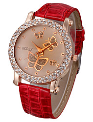 Women's Watch Diamante Butterflies Pattern Dial