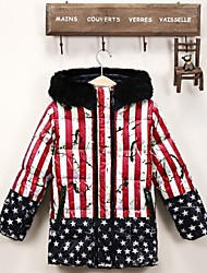 Girl's The new warm coats More children design collars down jacket