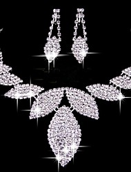 Wedding Accessories Bride Jewelry Crystal  Necklace  Earrings(Set of 2)