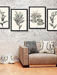E-Home® gerahmtes Leinwandkunst, Blattrahmen Leinwanddruck set of 4